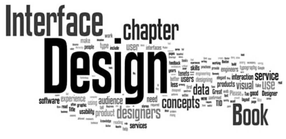 """a Wordle with a big word """"Design"""" in the middle"""